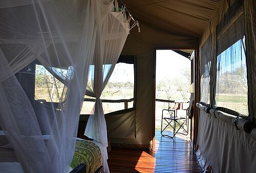 Sango Safari Camp in der Khwai Community Area in Botswana