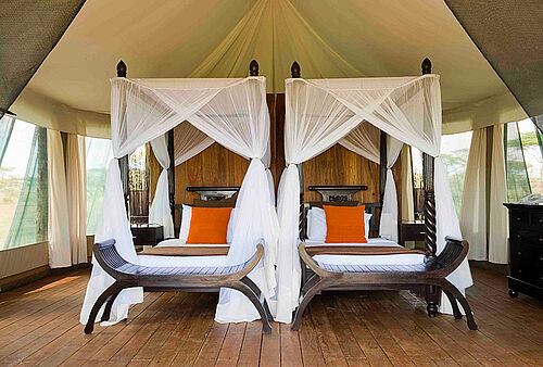 Lake Masek Tented Camp in der Ngorongoro Conservation Area in Tansania